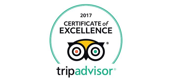 Certificate of Excellence TripAdvisor at Novotel Bangkok Sukhumvit 20
